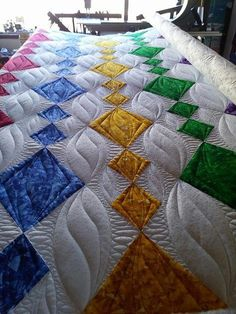 Ideas For Modern Machine Quilting Patterns Awesome Machine Quilting Patterns, Quilt Block Patterns, Longarm Quilting, Free Motion Quilting, Quilting Projects, Quilting Ideas, Modern Quilting Designs, Quilt Designs, Colorful Quilts