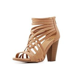 Delicious Strappy Caged Sandals