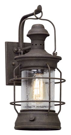 Harbor sconce weathered zinc weather lights and exterior troy lighting atkins 1 light wide hand forged outdoor wall sconce with centennial rust outdoor lighting wall sconces aloadofball Images