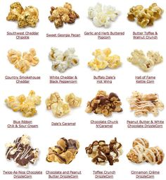Popcorn Ideas For Future Parties  #popcorn #snack I literally eat popcorn almost everyday! This is awesome!