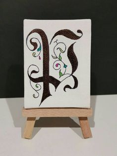 Check out this item in my Etsy shop https://www.etsy.com/au/listing/510995054/calligraphy-mini-canvas