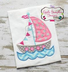 Welcome to Apple Dumplin Design! This listing is for a Sailboat with Water digital machine embroidery design. It is a computer file intended for embroidery machines. The file you purchase is zipped and will need to be UNZIPPED for use. Sizes included: x Embroidery Patterns Free, Machine Embroidery Applique, Embroidery Fonts, Embroidery Hoop Art, Embroidery Machines, Eyebrow Embroidery, Beach Quilt, Baby Applique, Embroidery Boutique