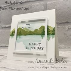 More Stampin Up Waterfront out of the frame card ideas created by Amanda Bates at The Craft Spa in the UK. Stampin Up Demonstrator & Card Creator in England. Stampin Up UK Online Shop