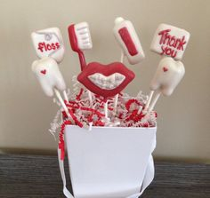 Happy dentist cake pops by Haute Pop Couture