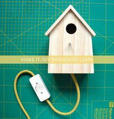 DIY Birdhouse Lamp: http://www.curbly.com/m/15171-make-it-diy-birdhouse-lamp