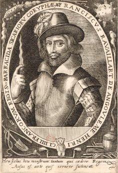 François Ravaillac, le couteau à la main. Estampe du XVIIe siècle de Crispin Van de Passe