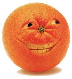 #FOOD_ART: #Smiley_Orange - http://www.dunway.com/recipe_ebooks/index.html  HAHA.  The sinister orange!!!