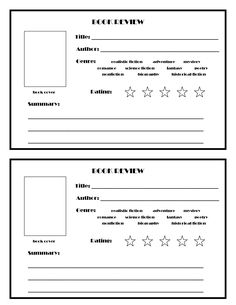 12 Best Book Review Template Images School Reading 1st Grades