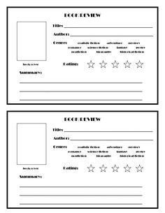 Book Review Template   Classroom: Literacy   Pinterest   Book ...