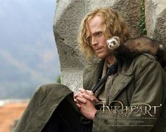 Paul Bettany - Dustfinger in Inkheart--- He looks freaking adorable with long hair. I love how curly it is.