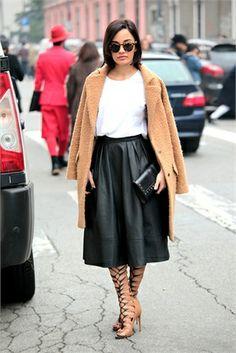 Plaid Zip | Leather midi skirt, Vintage and Midi skirts