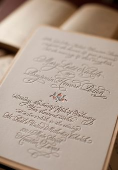 Elegant Letterpress and Wood Veneer Wedding Invitations | Oh So Beautiful Paper