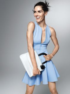 Sexy and Sporty: Hilary Rhoda Demonstrates How to Show Off Your Best Assets | Show off your chest with an unzipped scuba dress