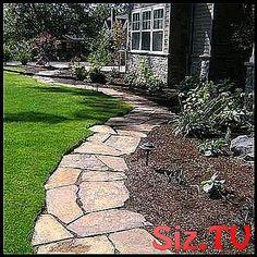 Garden Path Lawn Stone Pathways 65 Ideas For 2019 Garden Path Lawn Stone Pathways 65 Ideas Fo Stone Garden Paths, Garden Stones, Stone Pathways, Stepping Stones, Lawn, Sidewalk, Deck, Explore, Landscape