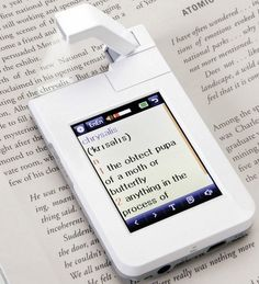 A pocket dictionary that can read paper text and feed you definitions