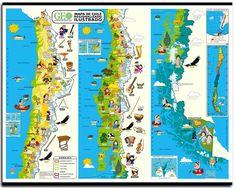 Mapa ilustrado de Chile