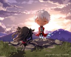 Anime Chibi, Anime Art, Fate Stay Night Rin, Fate Archer, Archer Emiya, Tohsaka Rin, Shirou Emiya, Fate Zero, Fantasy Warrior