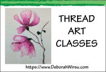 Learn thread sketching, thread painting, free machine embroidery, free motion stitching, art quilting and textile art techniques from Deborah Wirsu Textile Artist. Take an online class at http://learn.deborahwirsu.com/courses or subscribe to Studio News at https://www.deborahwirsu.com/mailing-list/ to stay in touch with creative stitching tips and ideas.