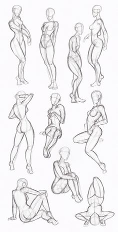 Female Body Drawing - Female Human Body Drawing to drawing poses Body Sketches, Drawing Sketches, Art Drawings, Sketching, Simple Drawings, Sketch Art, Drawing Art, Cartoon Drawings, Drawing Techniques