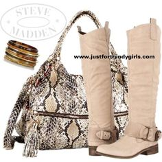 Steve Madden boots and bag