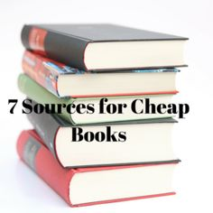 it sometimes tends to look like I spend too much money on books however, I hardly ever buy books at full price. Here are seven sources for discounted books. Cheap Books, Sarah J, Books To Buy, Book Collection, Book Quotes, Book Worms, Playground, Posts, Popular