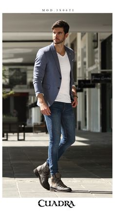 Bargain stunning urban mens fashion urbanmensfashion is part of Hipster mens fashion - Blazer Outfits Men, Outfits Casual, Stylish Mens Outfits, Blazer Fashion, Mode Outfits, Men Casual, Mens Casual Work Clothes, Blue Blazer Outfit, Fashion Shoes