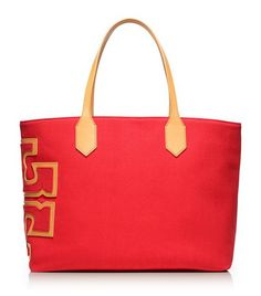 red stylish simple tote