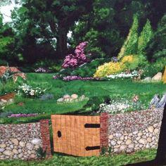 Mom's garden gate quilt!!