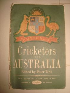 Old Vintage Small Size Australian Cricketers Book From Australia 1953