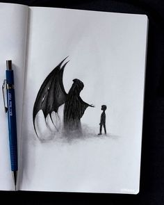 66 Cool and Easy Things to Draw When Bored - Kunst Scary Drawings, Demon Drawings, Dark Art Drawings, Pencil Art Drawings, Arte Horror, Dark Fantasy Art, Dibujos Dark, Horror Drawing, Arte Obscura