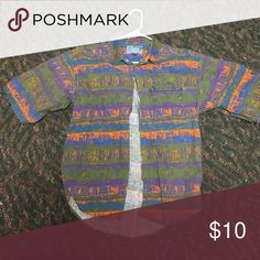 MENS SHORT SLEEVE FLORAL SHIRT Used, still in good condition Shirts Casual Button Down Shirts