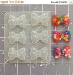 ON SALE Bubble decoden bows flexible plastic resin mold palette by MoldsbyMia on Etsy https://www.etsy.com/ca/listing/270849104/on-sale-bubble-decoden-bows-flexible