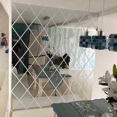 Diamonds Triangles Wall Art Acrylic Mirror Wall Sticker House Decoration DIY Wall Decals Art for Living Room Home Decor - Diy mirror