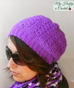 Hypnotic Heart Slouch Hat - Free Crochet Pattern