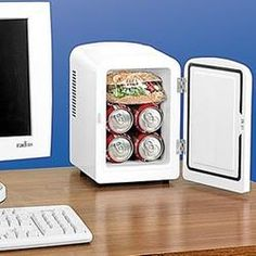 A Micro Cool Mini Fridge will be much appreciated for a small office. You will be the envy of all of your co-workers when you can stockpile your own snacks and beverages in this compact mini fridge at your very own desk!
