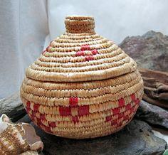 Beach grass basket. :)