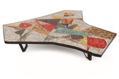 Fabulous Massive Mosaic and Iron Cocktail Table | From a unique collection of antique and modern coffee and cocktail tables at https://www.1stdibs.com/furniture/tables/coffee-tables-cocktail-tables/
