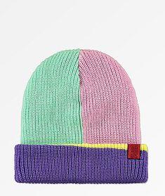 Fat Face Boys Colour Block Beanie Hat
