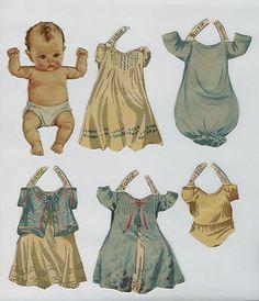 * 1er Año del bebé * SUSIE - Verdadero Vintage Paper Doll - 1940