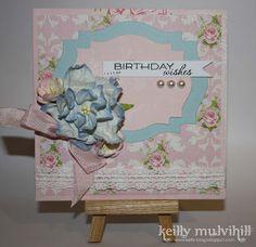 Shabby Chic Birthday Wishes card