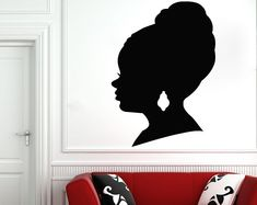 Etsy :: Your place to buy and sell all things handmade Minnie Mouse Wall Decals, Girls Wall Stickers, Wall Stickers Quotes, Nursery Wall Stickers, Name Wall Decals, Window Stickers, Nursery Wall Decor, Wall Shelf Unit, Beautiful African Women
