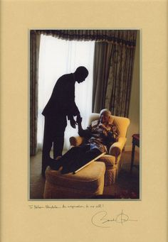 President Obama and Nelson Mandela!