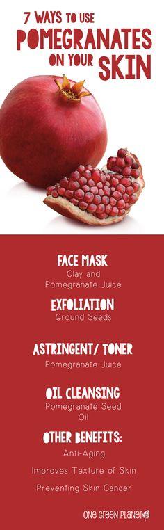 pomegranates for skin