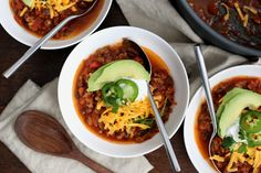 My husband and I created this recipe together. He won a chili cook-off with this recipe at work. We always use venison, but you can use ground beef or turkey.