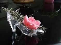 Flowers in glass slipper...nicely done.