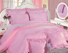 100% cotton pink bedding set