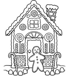 Printable Holiday Coloring Pages Gingerbread CraftsChristmas