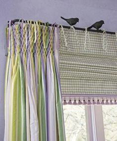 Hydrangea Hill Cottage: A Chic Kids' Guest Room Drapery Panels, Curtains With Blinds, Valance, Do It Yourself Decoration, Deco Champetre, Drapery Designs, Custom Window Treatments, Custom Windows, Window Dressings