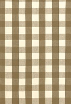 Camden Cotton Check Schumacher Fabric inside panels in master bedroom