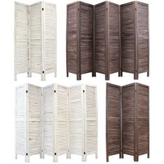 WOODEN SLAT ROOM DIVIDER